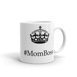 Mom Boss With Crown White Ceramic Coffee Mug