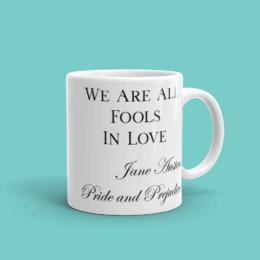 Featured Jane Austen Fools In Love Mug