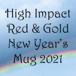 High Impact Red & Gold New Year's Mug