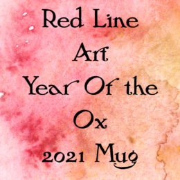 Red Line Art Year of the Ox 2021 Mug
