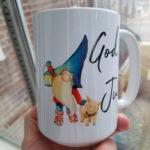 God Jul Mug with Tomte and Pig
